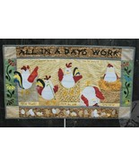 "Quilt Pattern-ALL IN A DAYS WORK-18"" x 31"" Wall Hanging-Chandler & Spurlock - $12.16"
