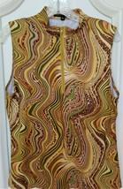Stylish Women's Golf & Casual Sleeveless Vivid Green Animal Print Mock P... - $24.95