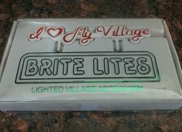 Dept 56 Snow Village Brite Lites I Love My Village Lighted Accessory 5222-1 - $9.49