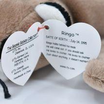 1995 Ty Beanie Baby Ringo the Raccoon Retired Beanbag Plush Toy Doll image 7