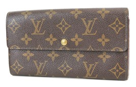 Authentic LOUIS VUITTON Long Wallet Monogram Zippered Coin Purse #38039A - $161.10