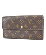 Authentic LOUIS VUITTON Long Wallet Monogram Zippered Coin Purse #38039A - $161.10