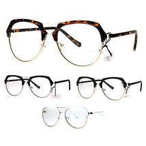 Retro Luxury Half Rim Aviator Designer Fashion Clear Lens Eye Glasses - $12.95