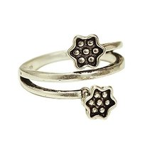 1 piece Ladies Ring Tail Ring Open Ring Women Jewelry Accessories (Lotus)