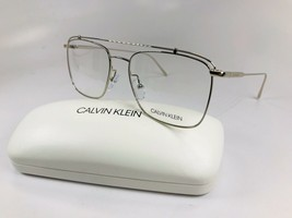 New Calvin Klein CK5461 046 Silver Eyeglasses 55mm with Case - $64.30