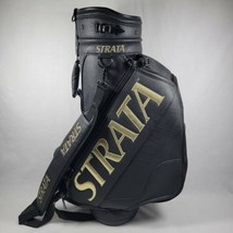 Vintage Strata Tour Staff Golf Bag Black Leather 6 way Rare  Read Callaway  - $149.99
