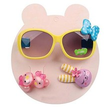 Children Hair Suit Sunglasses Bow-knot Style Hairpins and Hair Circle, Yellow image 2