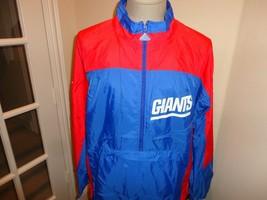Vtg 90's Apex One New York Giants Sewn Patches NFL Football Nylon Jacket Fits L - $43.07