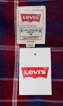 NEW NWT LEVI'S MEN'S LONG SLEEVE BUTTON UP CASUAL DRESS SHIRT RED 3LYLW0042 image 6