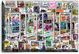 OLD POST STAMPS COLLECTION PHILATELY 4 GFCI LIGHT SWITCH WALL PLATES ROO... - $21.99