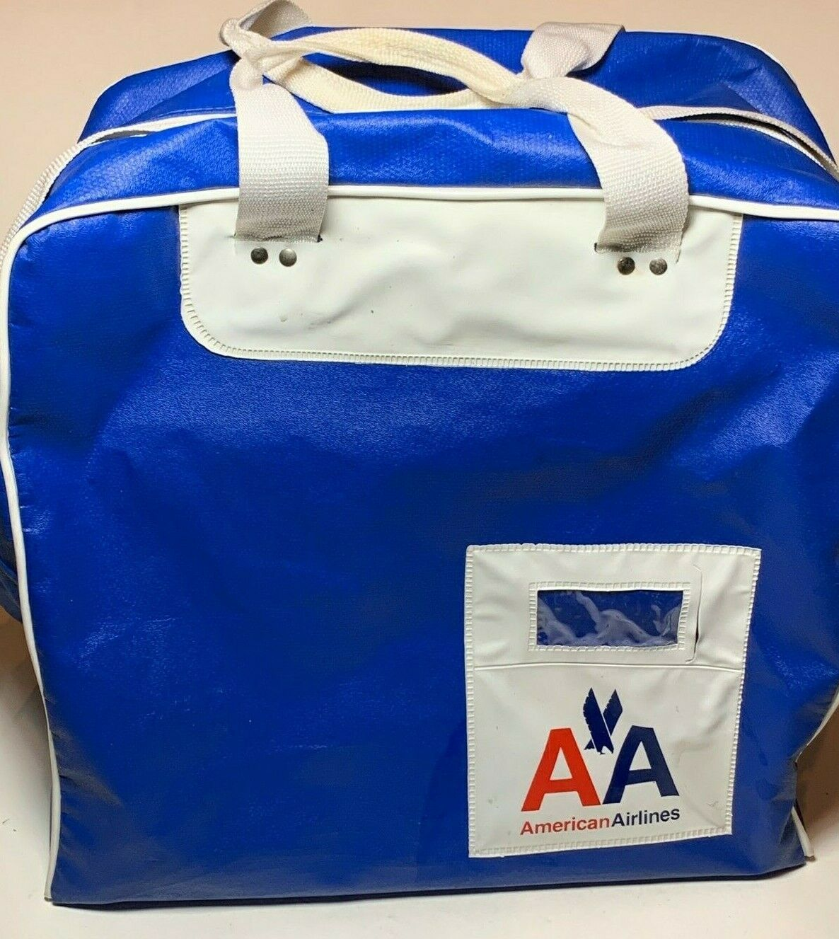 Primary image for Vintage American Airlines Pilot Carry On Travel Bag Suitcase Luggage 15x15x10
