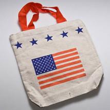 Patriotic USA American Flag Stars Stripes Tote Bag - $9.98