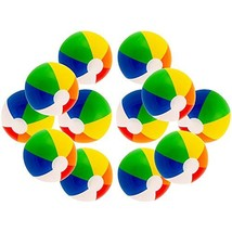 """12"""" Rainbow Colored Party Pack Inflatable Beach Balls - Beach Pool Party... - £10.76 GBP"""