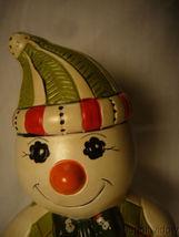 Vaillancourt Folk Art Plaid Snowman on Snowshoes Signed by Judi image 5