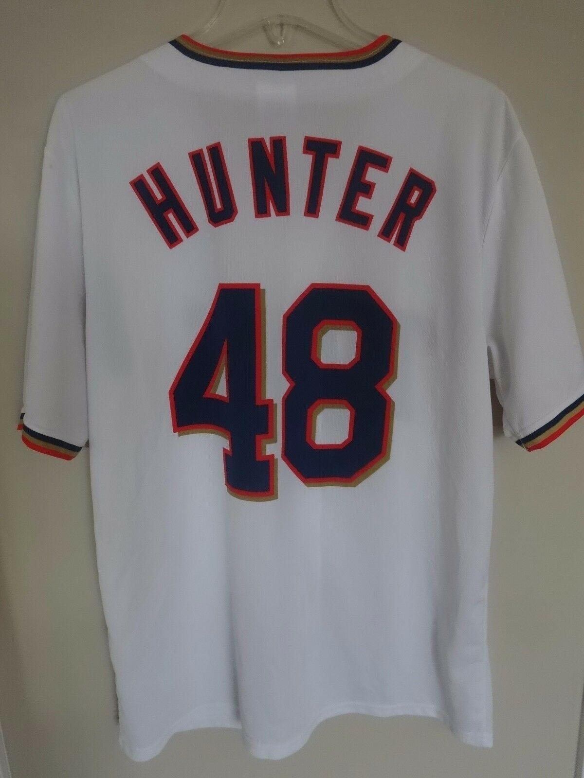 Stadium Give Away MLB Minnesota Twins Torii Hunter Button Front Jersey Men XL