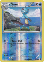 Dewott 31/114 Reverse Holo Uncommon XY Steam Siege Pokemon Card - $1.09