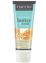 Cuccio Naturale Butter & Scrub, Milk & Honey   4 oz