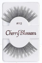 CHERRY BLOSSOM EYELASHES MODEL# 112 -100% HUMAN HAIR BLACK 1 PAIR PER PACK - $1.89