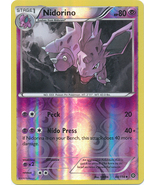 Nidorino 44/114 Reverse Holo Uncommon XY Steam Siege Pokemon Card - $1.09