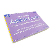 New Mommy Advice Cards 24pc Baby Shower Activity Game Boy Girl Favors Su... - ₨400.52 INR