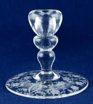 "New Martinsville/Viking Glass Co Prelude Etched 4"" Single Candle Candles... - $9.00"