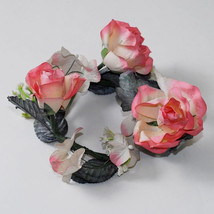 12 Rosemary Latex Flower Candle Ring Floral Design Arrangement Wreath We... - $19.62