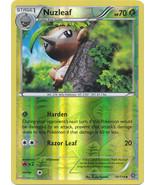 Nuzleaf 10/114 Reverse Holo Uncommon XY Steam Siege Pokemon Card - $1.09