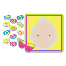 1 Baby Shower Party Game PIN THE PACIFIER ON THE BABY for 12 Guests - ₨461.72 INR