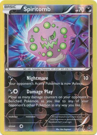 Spiritomb 62/114 Reverse Holo Rare XY Steam Siege Pokemon Card image 3