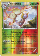 Volcarona 15/114 Reverse Holo Rare XY Steam Siege Pokemon Card - $1.29
