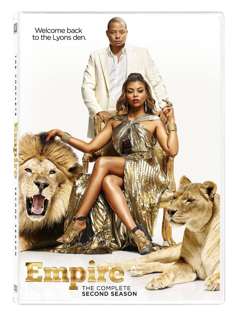 Empire second season two 2  dvd 2016 5 disc  terrance howard  taraji henson  new
