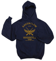 CAPTAIN Old Ravenclaw Quidditch team captain Yellow INK Unisex hoodie Navy - $37.00+