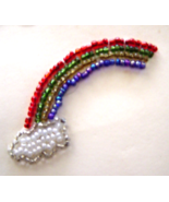 Vintage Small Rainbow Clouds Sequin Applique Se... - $5.99