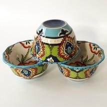 Set 3 Espana Lifestyle Unlimited Bocca Bowls Mediterranean Paisley Swirl - $51.40