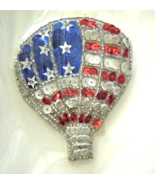 Vintage Silver American Air Balloon Sequin Appl... - $5.99