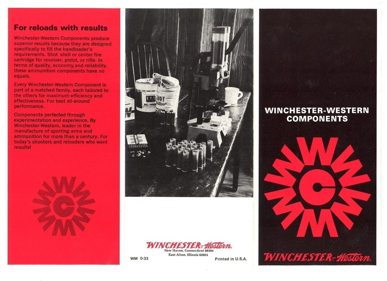 Winchester Western components vintage advertising brochure ammo sporting