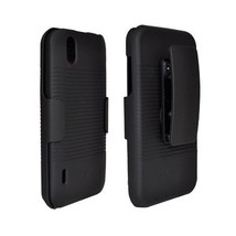 LG MARQUEE LS855 OPTIMUS P970 IGNITE after market black rubberized shell  - $8.49