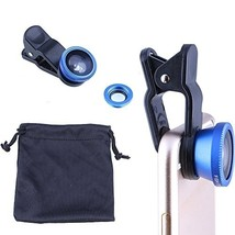 3 in 1 Fish Eye Wide Angle and Macro Camera Clip on Lens for Universal C... - $12.99
