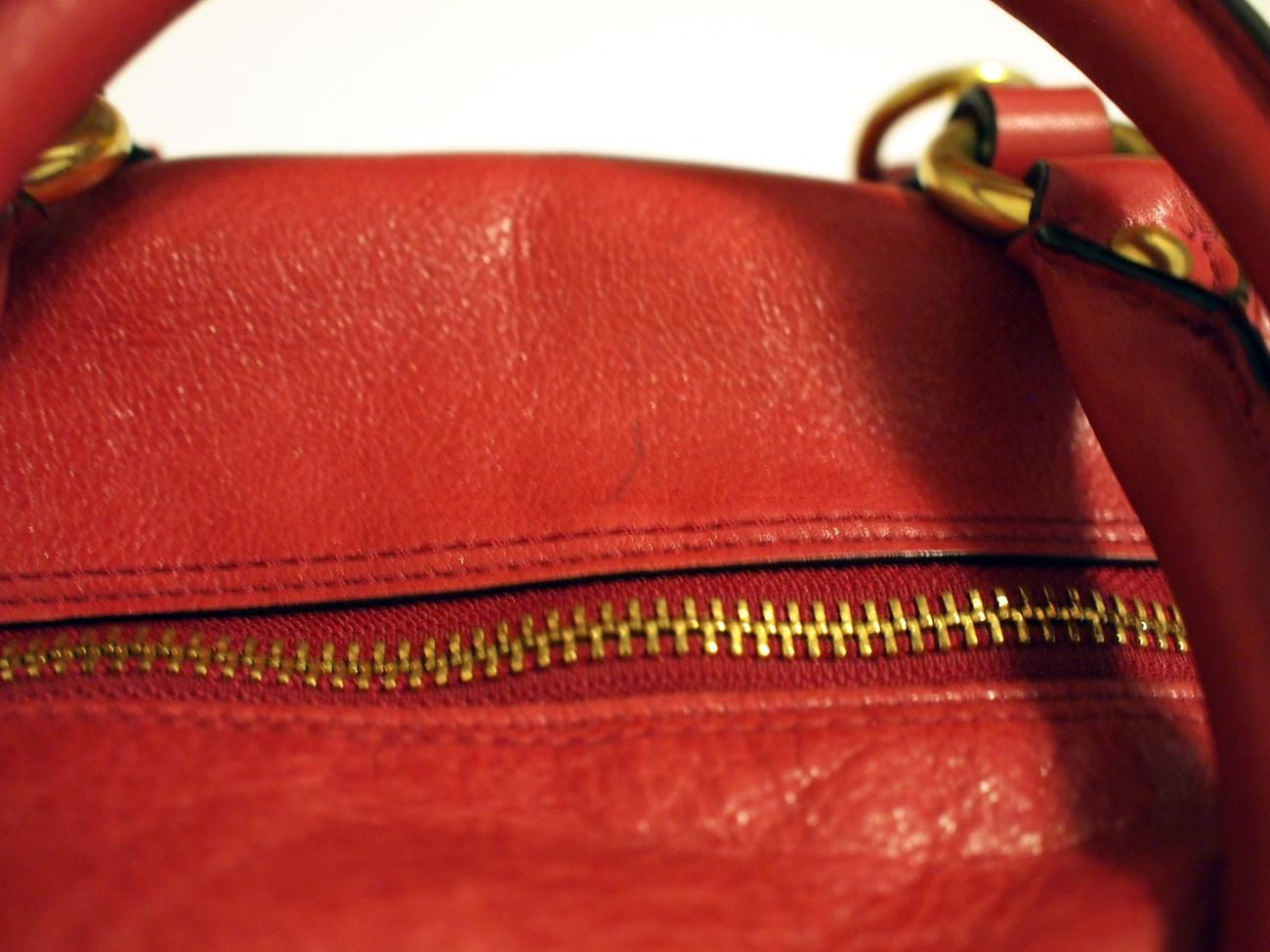 COACH Signature Madison Leather Sabrina Cherry Pink Magenta Satchel Bag 12937