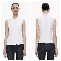 Theory Sleeveless Pleated Poplin Button-Down Shirt, Classic!  - $55.30