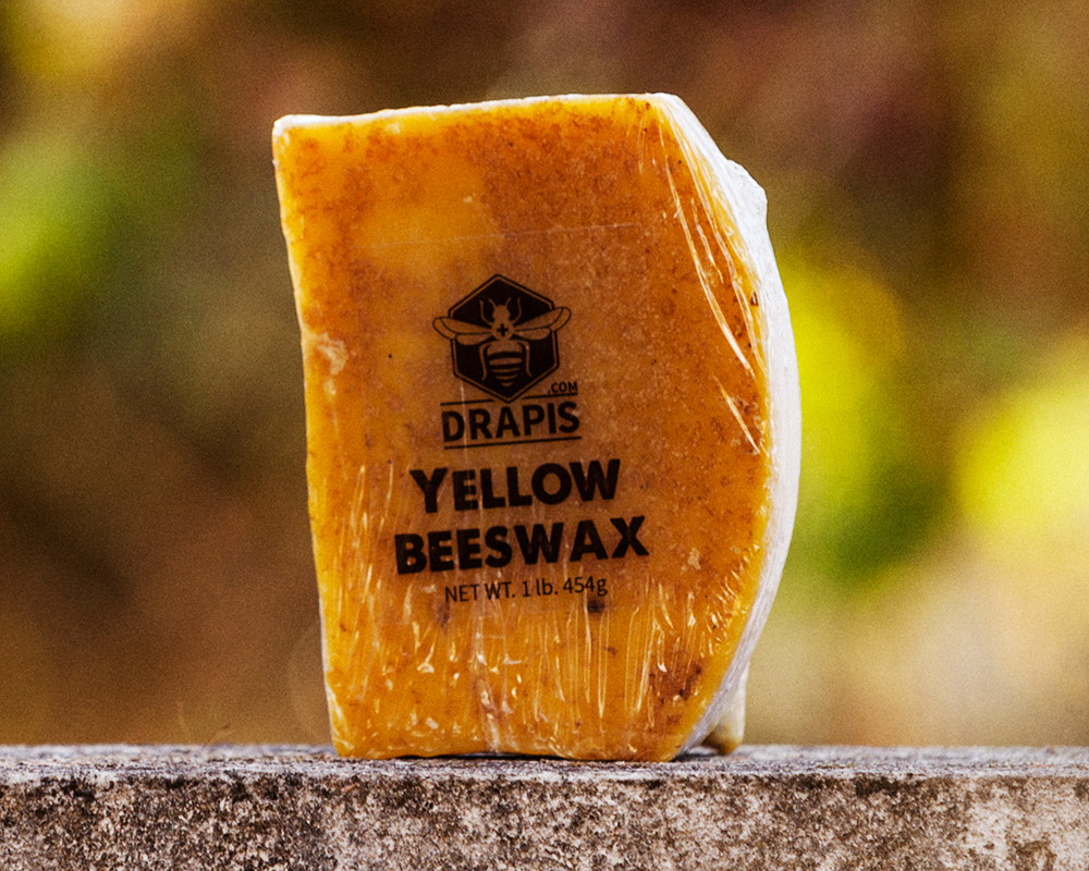 Primary image for DrApis Yellow Beeswax 454g (1 lb) bar raw & unfiltered from beekeeper Portugal
