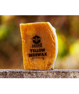 DrApis Yellow Beeswax 454g (1 lb) bar raw & unfiltered from beekeeper Po... - $16.97