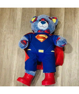 Build-A-Bear stuffed animal plush teddy superman super hero cape boots m... - $57.83
