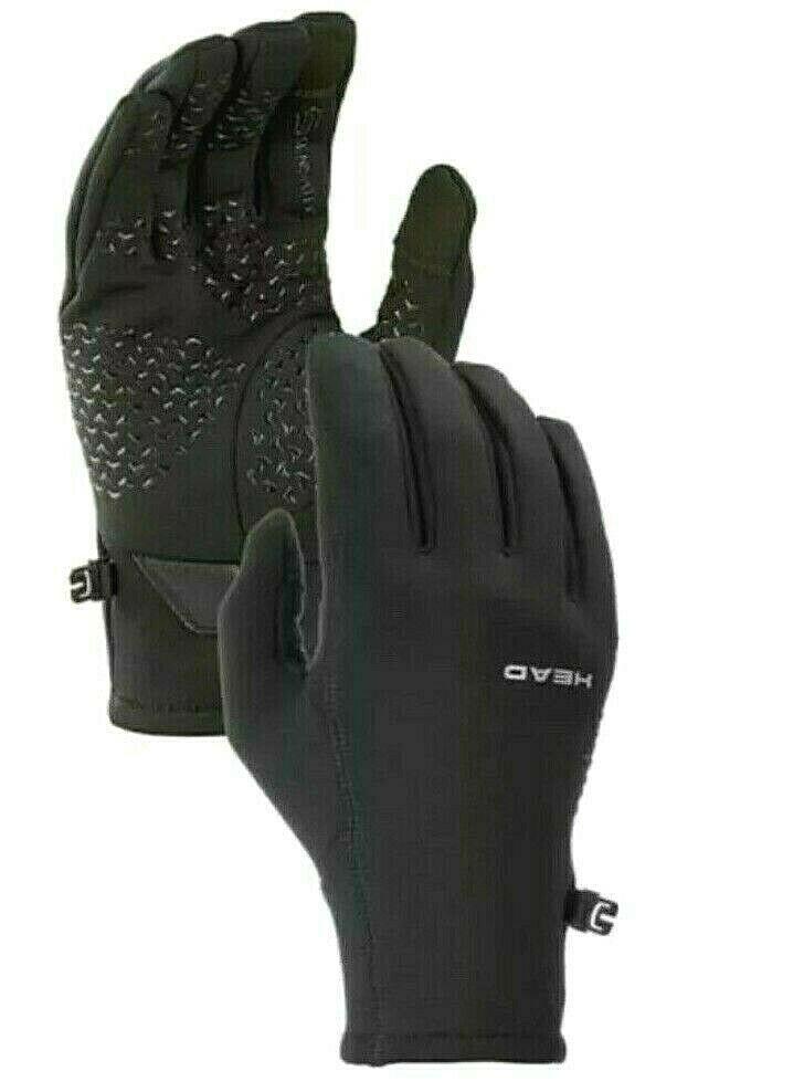 HEAD Women's Black Sensatec Touchscreen Running Gloves XS XL NWT