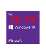 20 PC WINDOWS 10 PRO 32 / 64 BIT GENUINE LICENSE KEY CODE - $36.89