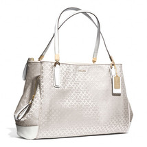 Coach Madison Op Art Pearlescent Fabric Cafe Ca... - $248.00