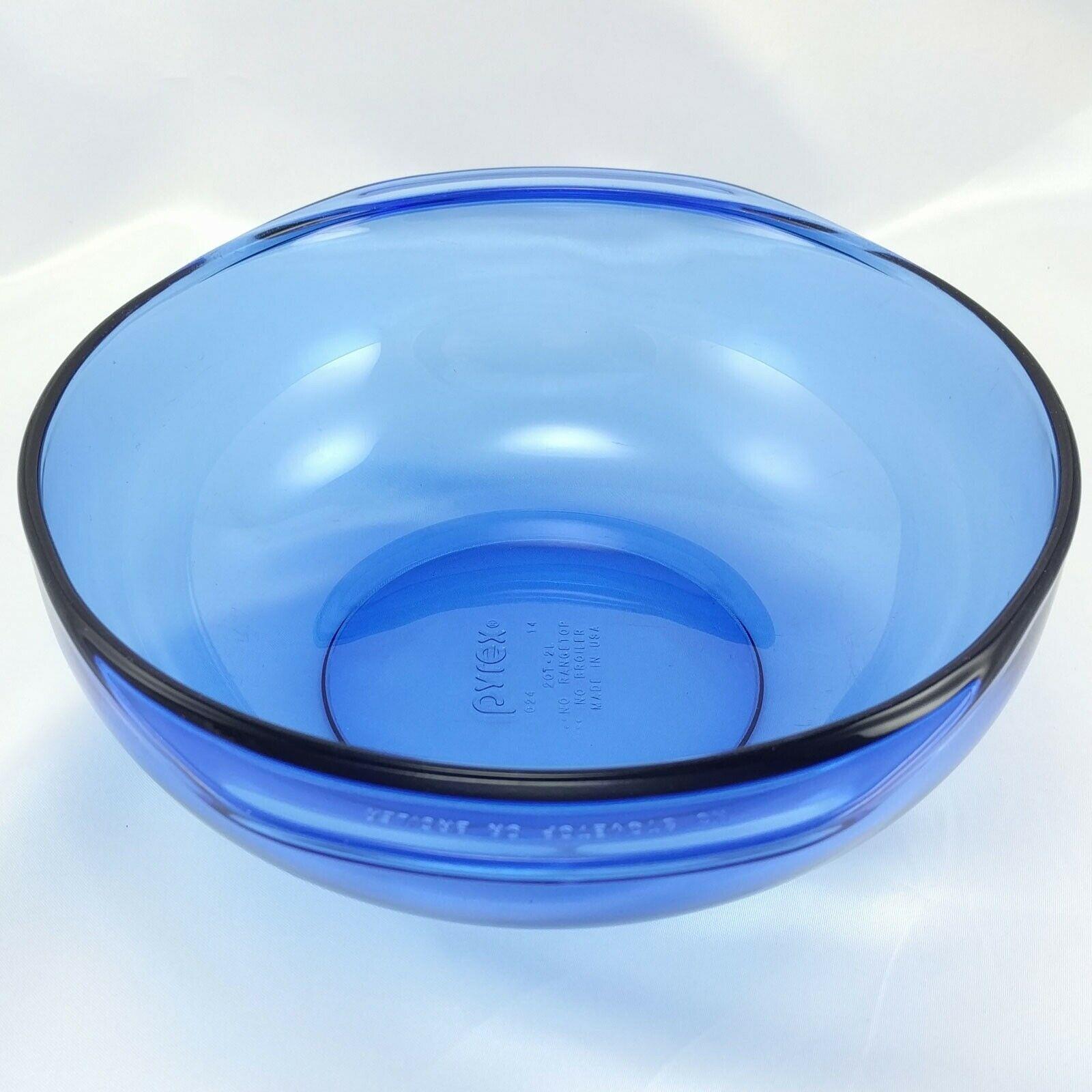 Pyrex 024 Cobalt Blue Bowl 2 qt Serving Casserole w/ 024C Lid Made in the USA image 2