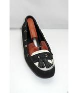"Ralph Lauren ""Gael"" Black/Ivory Nubuck Leather Tassel Wedge Loafers - Wo... - $23.70"