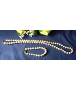 MONET Faux Pearl Necklace and Matching Bracelet... - $18.00