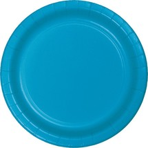 """Turquoise 6 7/8"""" Dessert Paper Plates 24 Per Pack heavy duty - $2.96"""